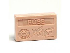 La Maison du Savon de Marseille Mýdlo s bio arganovým olejem - Růže  100g