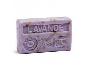 La Maison du Savon de Marseille Mýdlo s bio arganovým olejem - Drcená Levandule 100g