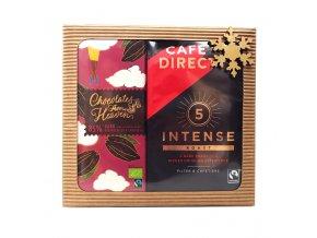 Dárkové balení mleté kávy INTENSE s tóny kakaa 227g a hořké čokolády 85% 100g