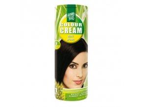 Přírodní barva na vlasy krémová TMAVĚ HNĚDÁ 3 60ml