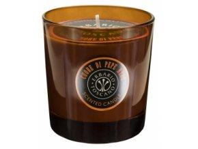 Erbario Toscano Luxusní pánská vonná svíčka - Černý pepř, 250g