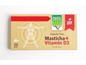 masticlife Chios Masticha+ Vitamin D3, 20 ks
