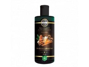 Koupelový a tělový olej - Skořice a hřebíček v mandlovém olejii 200 ml