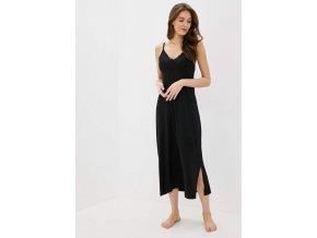 Dámská noční bambusová košilka VERONA - barva černá