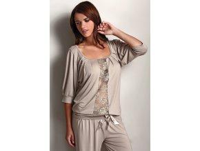 Dámské bambusové pyžamo SERENA - barva béžová