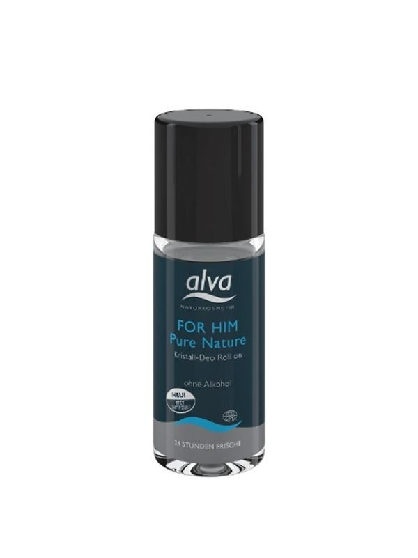 Alva for Him Pure Nature kuličkový deo krystal 50ml