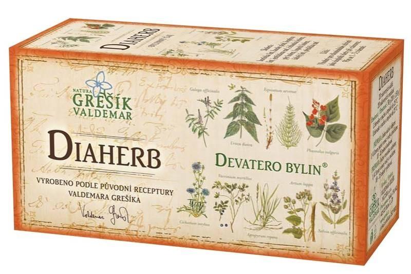 Waldemar Grešík Bylinný čaj Diaherb porcovaný 20 n.s.