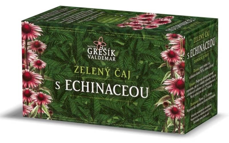 Waldemar Grešík Zelený čaj s echinaceou přebal 20n.s.