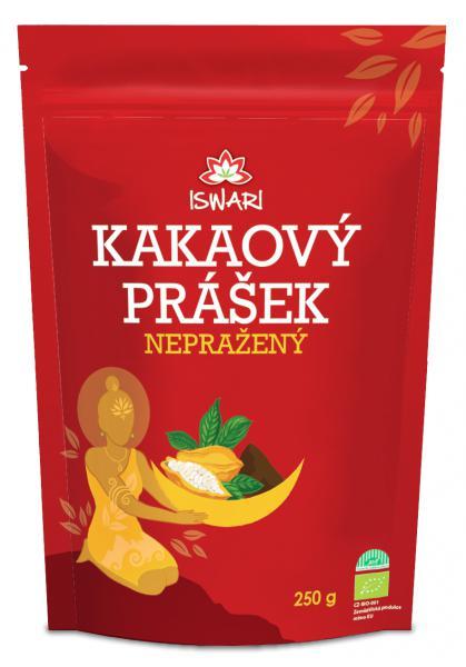 ISWARI BIO Nepražený kakaový prášek Hmotnost: 250g