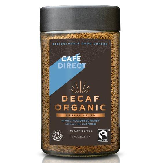 Cafédirect BIO Peru instantní káva bez kofeinu 100g
