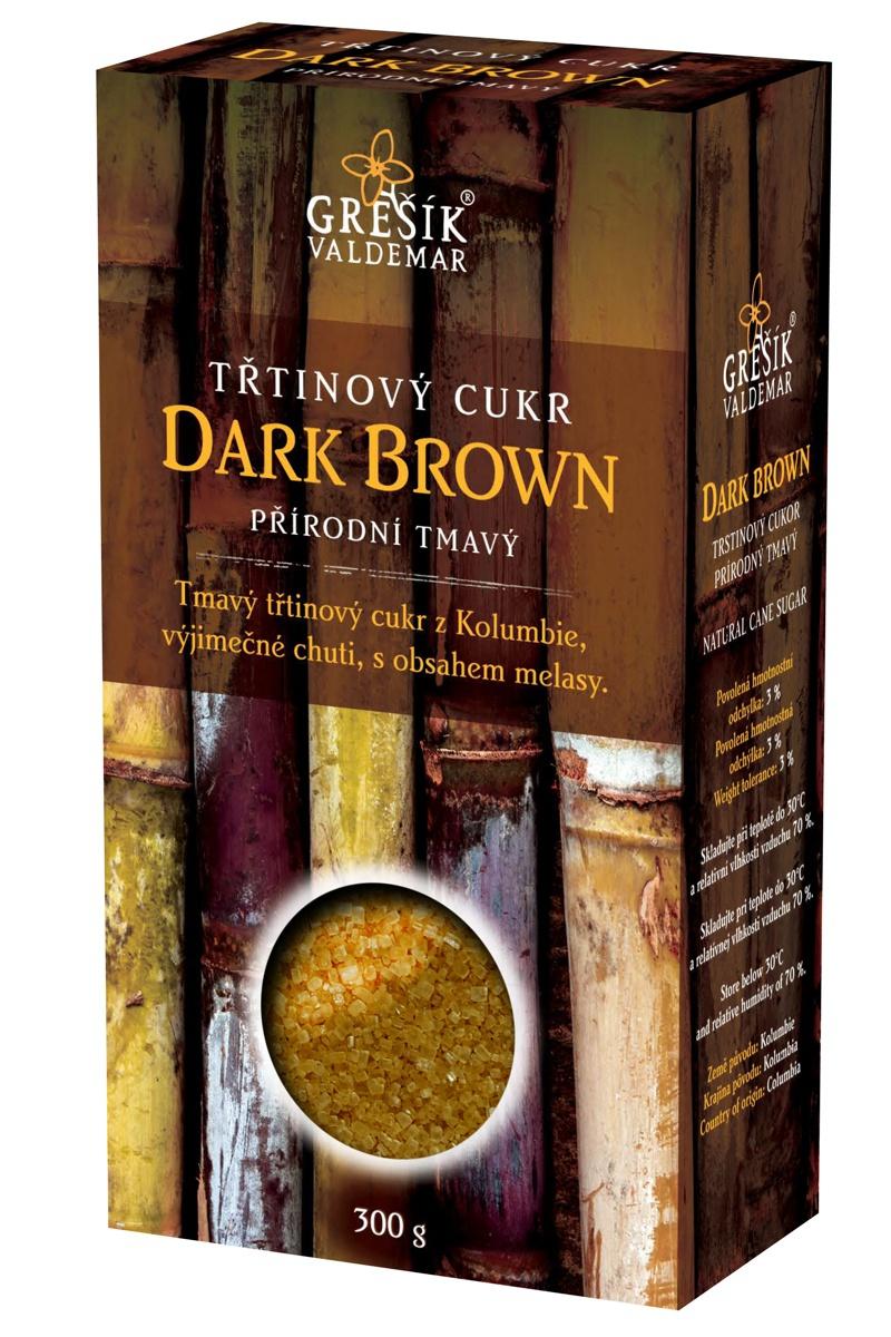Waldemar Grešík Cukr Dark Brown třtinový přírodní tmavý 300g