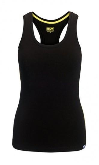 BAM - Bamboo Clothing Ltd Dámské sportovní bambusové tílko - černá barva Velikost: XL - 91 až 96 cm rozměr přes hrudník
