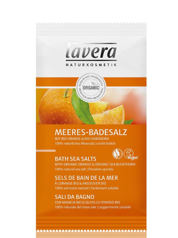 LAVERA Koupelová sůl BIO Pomeranč BIO Rakytník 80g