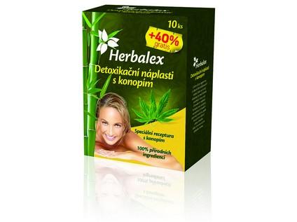 Herbalex Detoxikační náplastí s konopím 10 kusů + 40% GRATIS