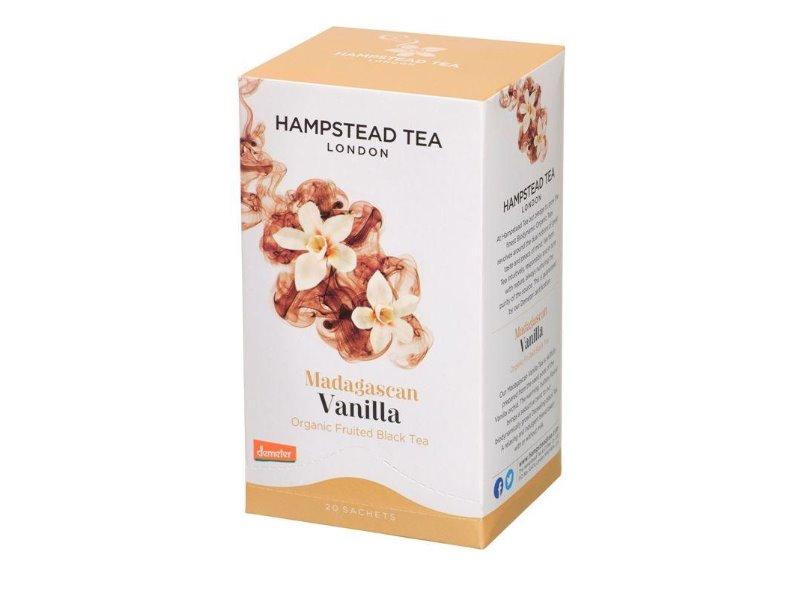 Hampstead Tea London BIO černý čaj s madagaskarskou vanilkou 20ks