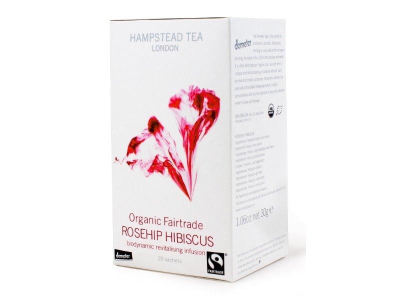 Hampstead Tea London BIO šípkový čaj s ibiškem 20ks