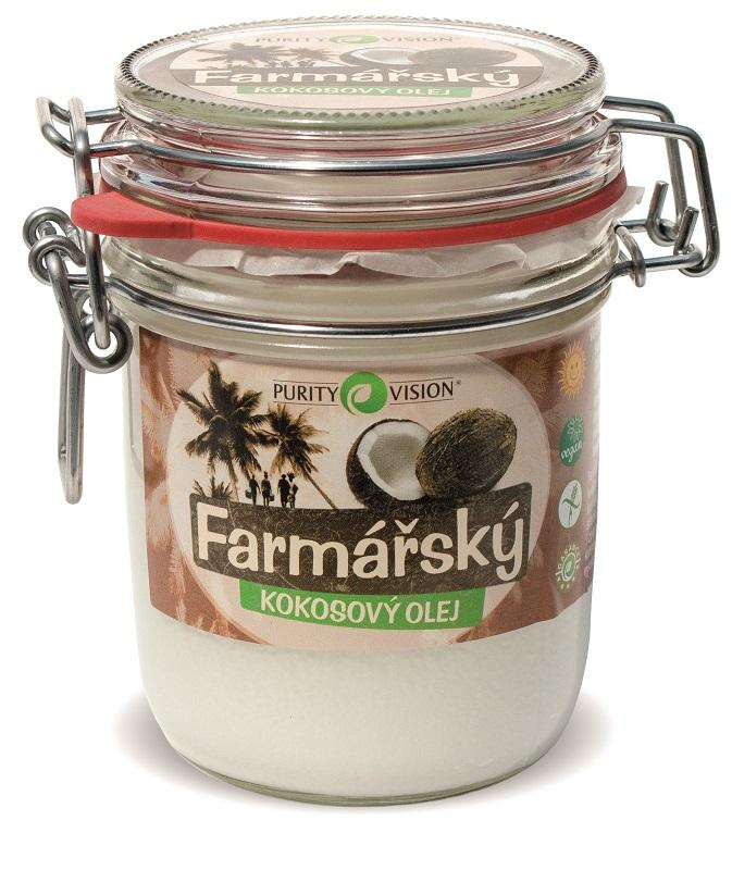 Purity Vision Farmářský Kokosový olej 300 ml