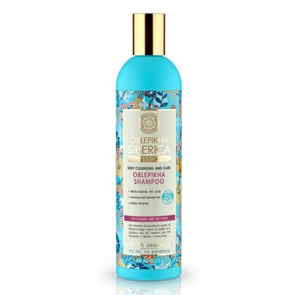 Natura Siberica Rakytníkový šampón pro normální a mastné vlasy-Hloubkové očištění a péče 400ml