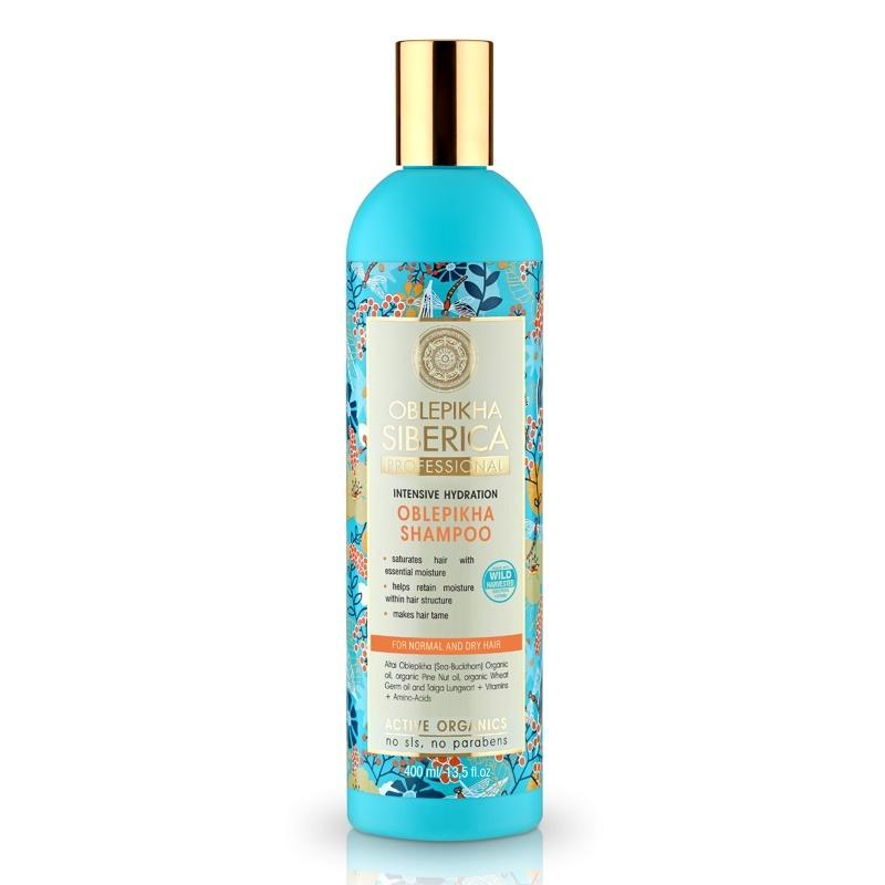 Natura Siberica Rakytníkový šampón pro normální a suché vlasy Intenzivní hydratace 400ml