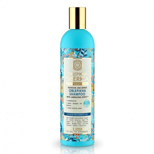Natura Siberica Rakytníkový šampón pro poškozené vlasy Výživa a revitalizace 400ml
