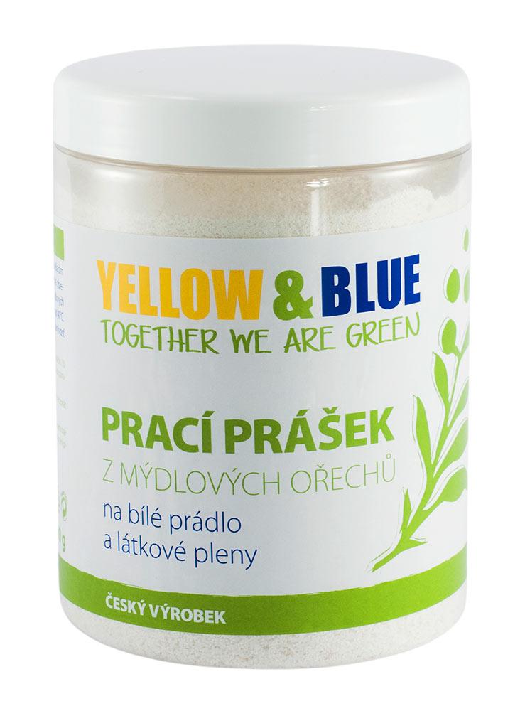 Yellow & Blue Prací prášek na bíle prádlo a látkové pleny Hmotnost: 850g