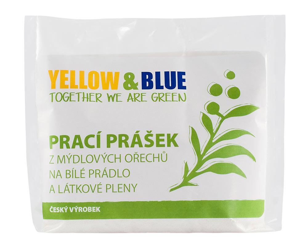 Yellow & Blue Prací prášek na bíle prádlo a látkové pleny Hmotnost: 250g