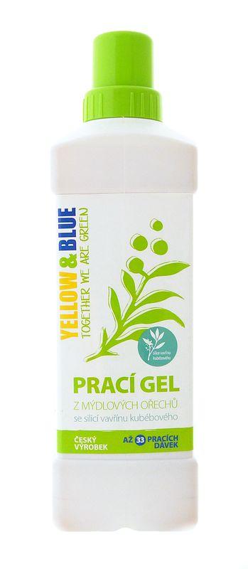 Yellow & Blue Prací gel z mýdlových ořechů s pomerančovou silicí OBJEM: 1000ml