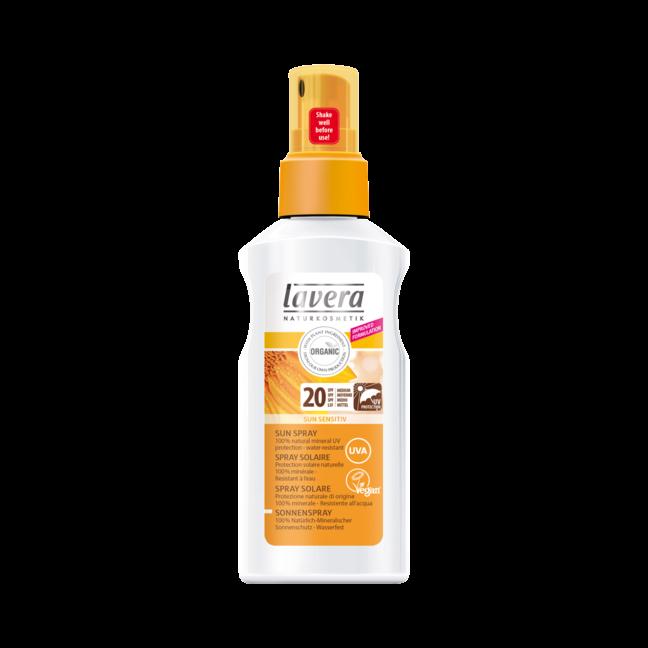 LAVERA BIO Opalovací mléko ve spreji SPF 20 125ml