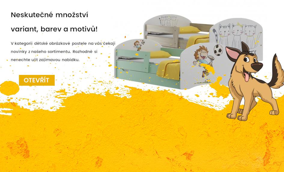 Dětské obrázkové postele