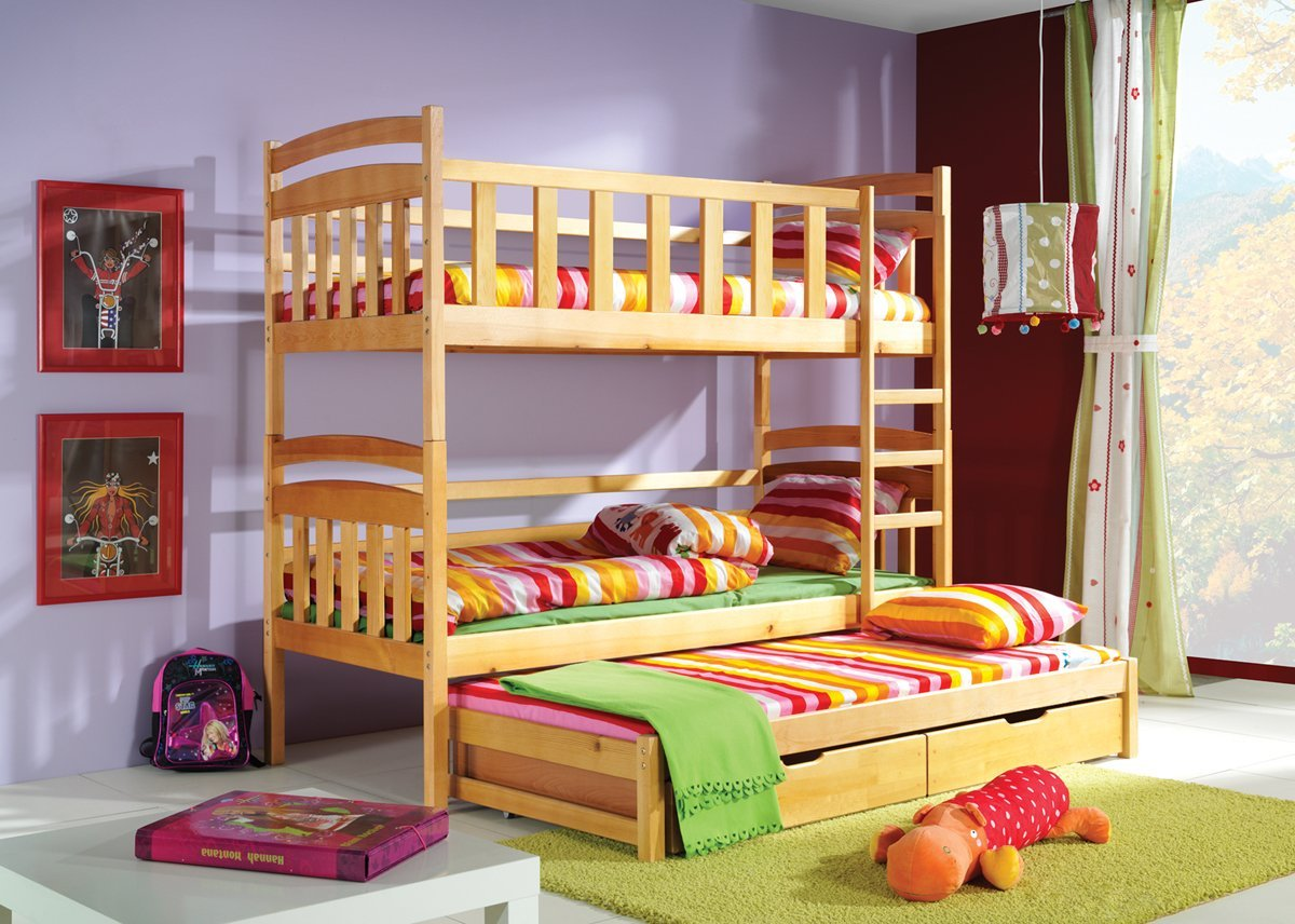 Patrové postele s přistýlkou