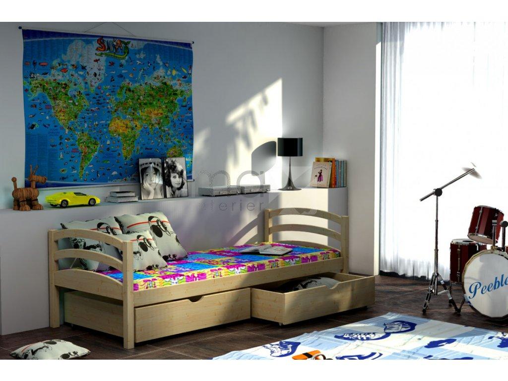 Dětská postel NELA PINE vč. roštu