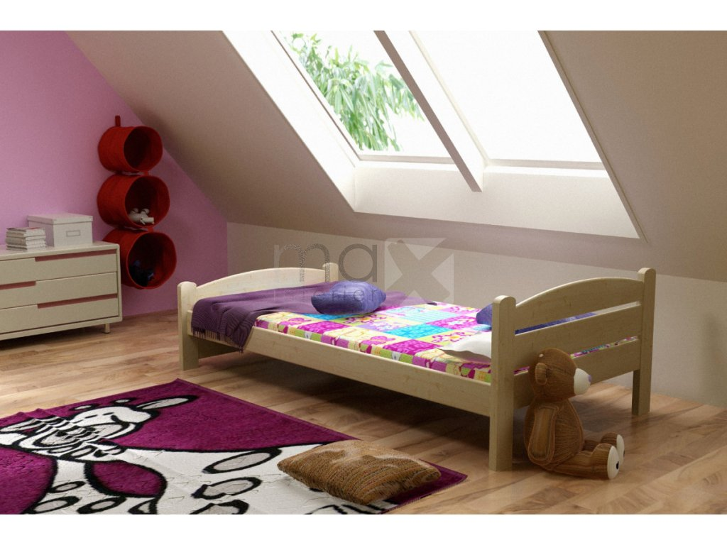 Dětská postel PATRIK PINE vč. roštu