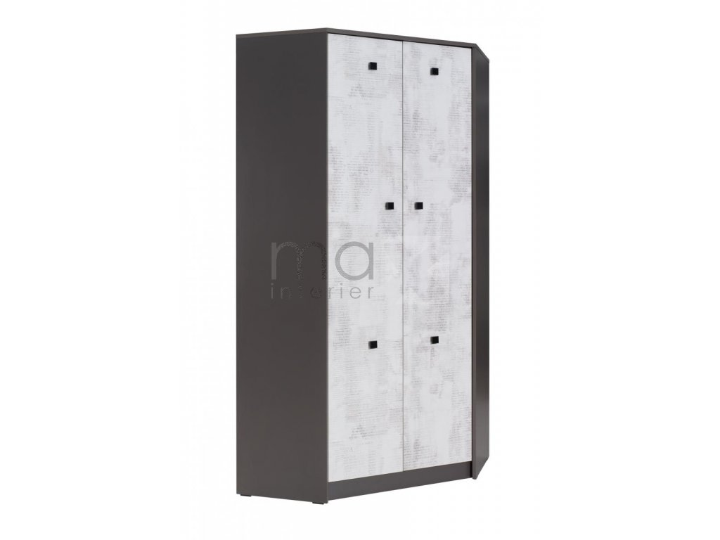 Rohová skříň Tomio R4 grafit/enigma