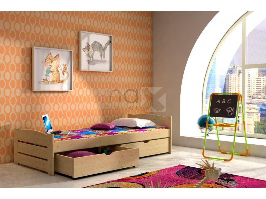 Dětská postel LILIANA PINE vč. roštu