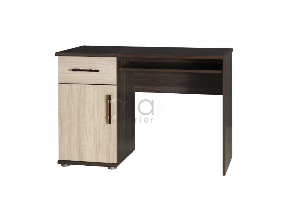 Psací stůl Ingrid R14 jasan tmavý/jasan světlý