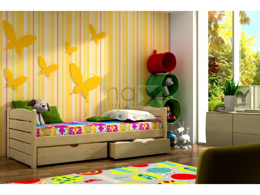 Dětská postel KAMIL PINE vč. roštu