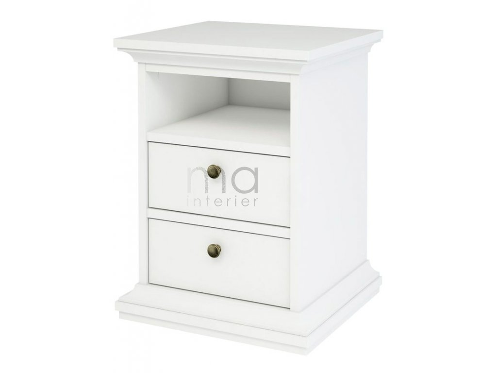 Noční stolek Provence 302 bílý