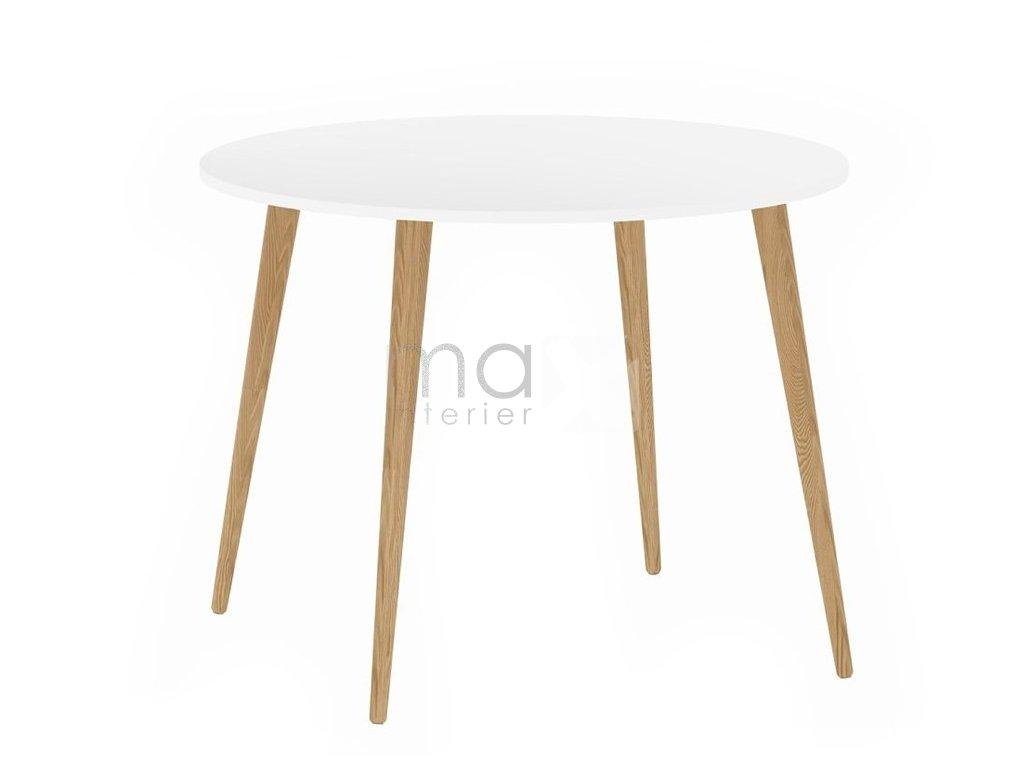 Jídelní stůl Retro 386 bílá/dub