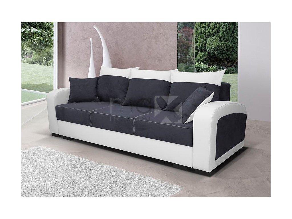 Pohovka Zara II černá/EKO bílá