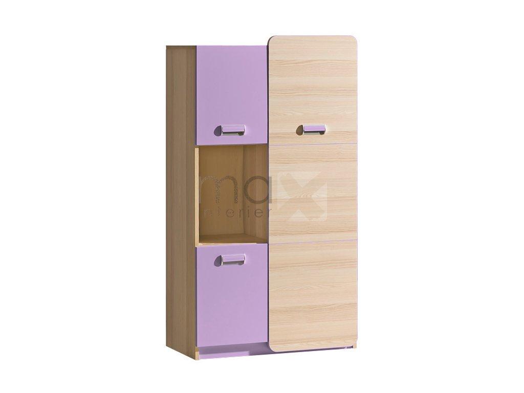 LIMO L5 kombinovaná skříňka fialová