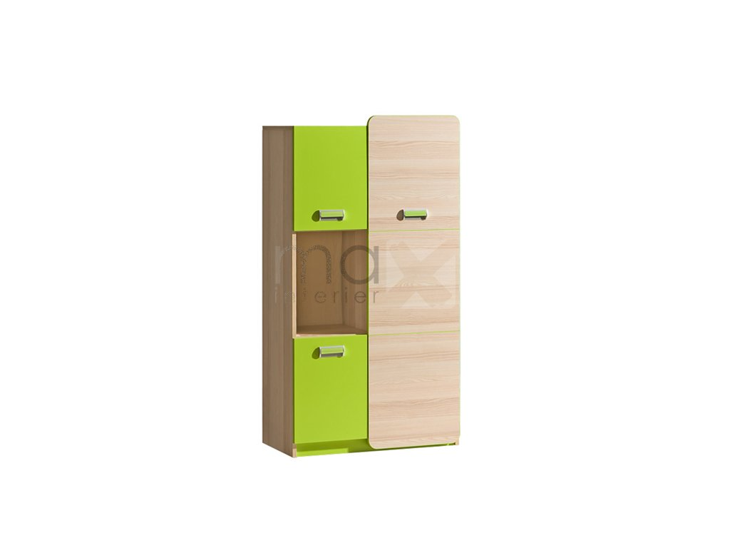 LIMO L5 kombinovaná skříňka jasan/zelená