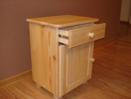Noční stolek  ALA - masiv borovice