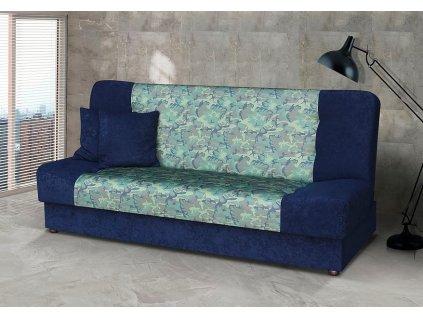 Pohovka Marry modrá/zelený vzor