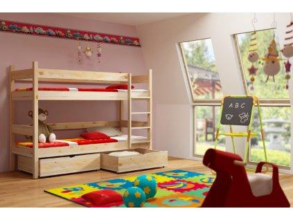 Patrová postel ELEGANT PINE vč. roštů