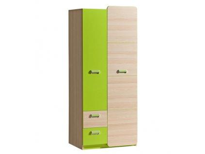 LIMO L1 šatní skříň zelená