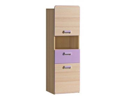 LIMO L4 skříňka se zásuvkou fialová