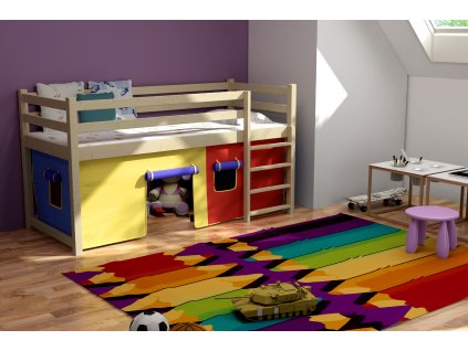 Patrová postel MARINA PINE vč. roštu