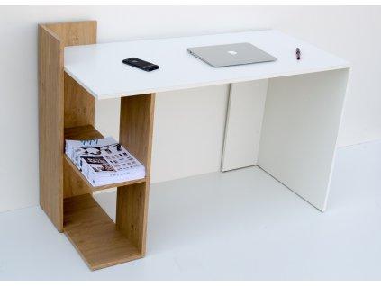 Pracovní stůl OMENA SHELF, barva sonoma/bílá