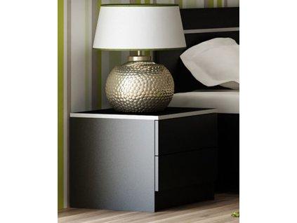 Noční stolek SANDINO černá