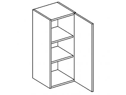 W30 horní skříňka jednodvéřová DICKSON pravá
